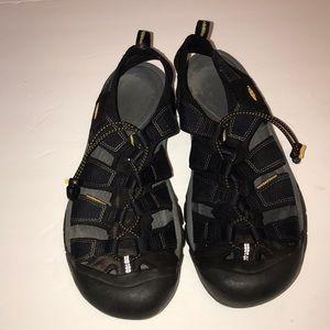 KEEN Men's Canvas Lace Up Sandals Sz 10.5 EU